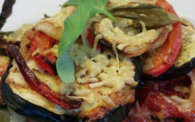 Boekweitpasta met aubergine en courgette (hormoonfactor)