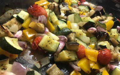 Groenten uit oven